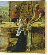 Christ In The House Of His Parents Wood Print