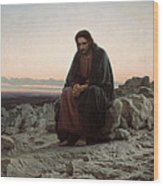 Christ In The Wilderness Wood Print