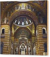 Christ Is Risen - St Louis Basilica Wood Print