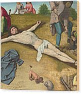 Christ Nailed To The Cross Wood Print