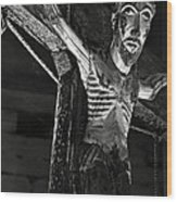 Christ Of Salardu - Bw Wood Print