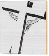Christ On Cross Wood Print
