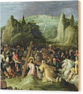 Christ On The Road To Calvary Wood Print