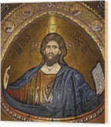 Christ Pantocrator Mosaic Wood Print by RicardMN Photography