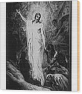 Christ Preaching To The Spirits In Prison C. 1910 Wood Print