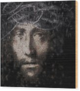 Christ Suffering Wood Print