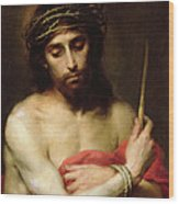 Christ The Man Of Sorrows Wood Print by Bartolome Esteban Murillo