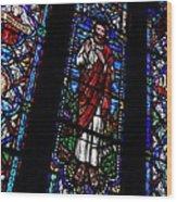 Christ Window Wood Print