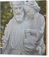 Christ With Child Wood Print