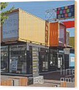 Christchurch Restart Containers Wood Print