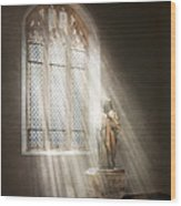 Christian - Heavenly Father Wood Print by Mike Savad
