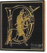 Christian Initial Letter D Wood Print