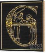 Christian Initial Letter E Wood Print