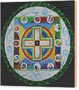 Christian Sand Mandala Wood Print