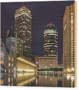 Christian Science Center-boston Wood Print by Joann Vitali