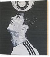 Christiano Ronaldo - Real Madrid Fc Wood Print