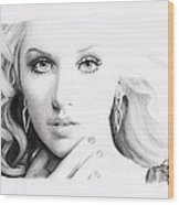 Christina Aguilera 2 Wood Print
