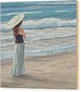 Christina With Parasol Wood Print