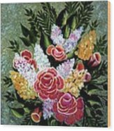 Christina's Bouquet Wood Print
