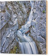 Christine Falls In Mount Rainier National Park Wood Print