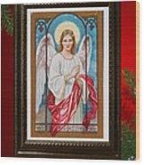 Christmas Angel Art Prints Or Cards Wood Print