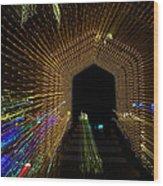 Christmas Arch Zoom Wood Print