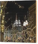 Christmas At Temple Square 11 Wood Print