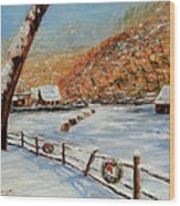 Christmas At The Cuttalossa Wood Print