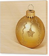 Christmas Ball Ornament Wood Print