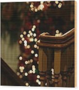 Christmas Banister 1 Wood Print
