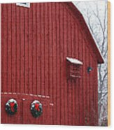 Christmas Barn 4 Wood Print