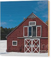 Christmas Barn Wood Print by Edward Fielding