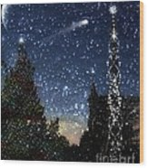 Christmas Baroque Wood Print