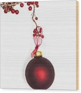 Christmas Bauble Wood Print
