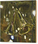 Christmas Bells Ornaments Faneuil Hall Tree Boston Wood Print