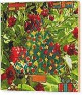 Christmas Berries Wood Print