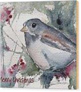 Christmas Birds 01 Wood Print