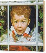 Christmas Boy Wood Print