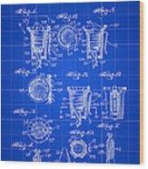 Christmas Bulb Socket Patent 1936 - Blue Wood Print