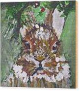 Christmas Bunny Wood Print