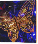 Christmas Butterfly Wood Print
