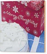 Christmas Cake Wood Print by Anne Gilbert
