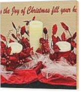 Christmas  Candels Wood Print