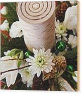 Christmas Candle 1 Wood Print