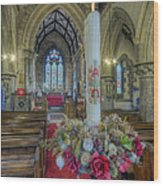Christmas Candle Wood Print