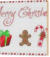 Christmas Card 25 Wood Print
