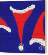 Christmas Caps Wood Print by Meenal C