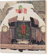 Christmas Car Card Wood Print