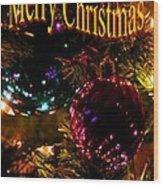 Christmas Card 3 Wood Print
