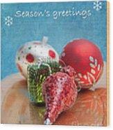 Christmas Card 6 Wood Print